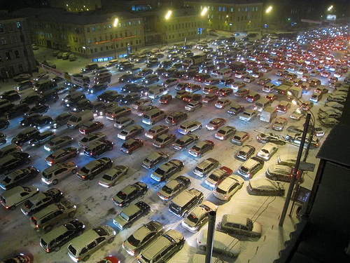 Moscow traffic / Photo by Leszek Golubinski @ FlickR