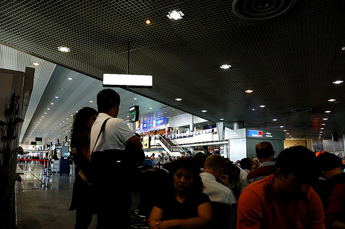 passport control in sheremetyevo airport / photo by chen@FlickR