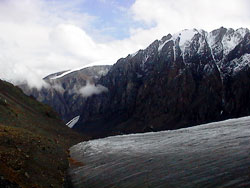 Aktru glacier at Altay