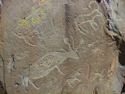 Ancient carvings at Altay