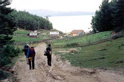 Entering Korbulik village, on the shore of Baikal