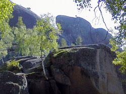 Stolby national park in Krasnoyarsk