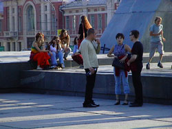 People in Novosibirsk