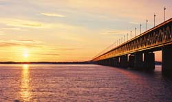 Bridge over Amur river