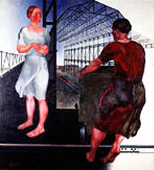 "Deineka, ""At the Construction of New Factory"", Tretyakov Gallery, Moscow"