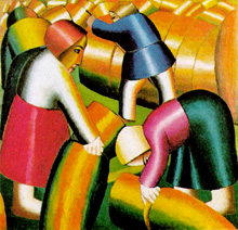 "Malevich, ""Taking in the Harvest"", 1911, Stedelijk, Amsterdam"